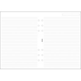 Filofax A5 White Ruled Notepaper Refill