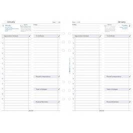 Filofax A5 Business Day Per Page English Appointments 2021 Diary Refill