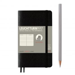 Leuchtturm A6 Black Softcover Notebook With Numbered Pages Plain