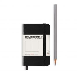 Leuchtturm A7 Black Hardcover Notebook With Numbered Pages Plain