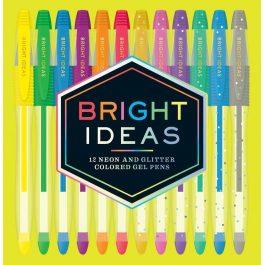 Bright Ideas Neon Sparkle Gel Pens Assorted Pk 12