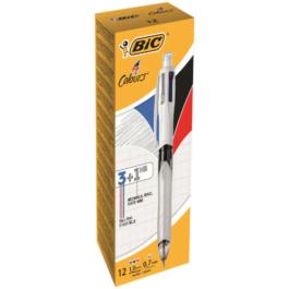 Bic 4 Colours Multifunction 3 Pens & 1 HB Pencil Pk 1