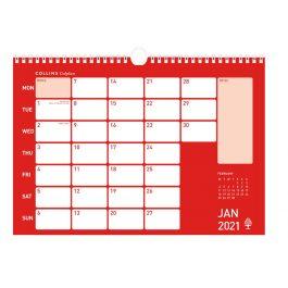 Collins 2021 Colplan A4 Memo Calendar Red