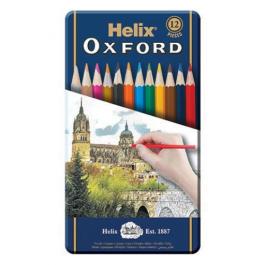 Helix Oxford Metal Tin 12 Colouring Pencils