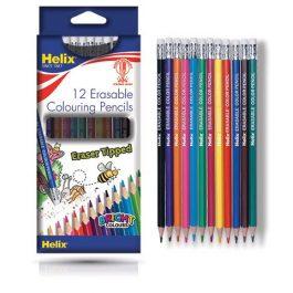 Helix Erasable Colouring Pencils Pk 12