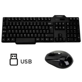Q-Connect Desk Set Wireless Keyboard & Mouse