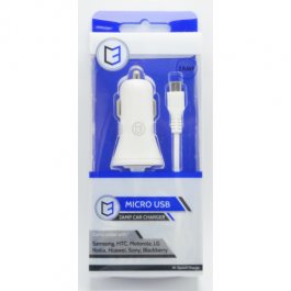 KHD In-Car Phone Charger Micro USB 2 Amp White