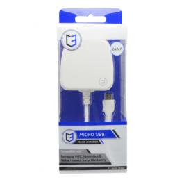 KHD Mains Phone Charger Micro USB 2 Amp White