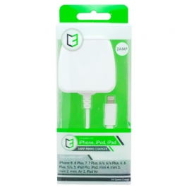 KHD Mains Phone Charger For IPhone 2 Amp White