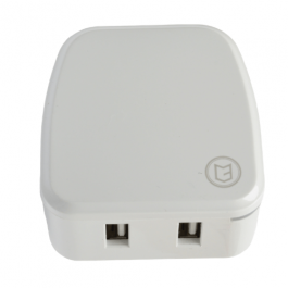 KHD Mains Charger Dual USB White