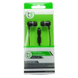 KHD Xbass Hands Free Headphones Black
