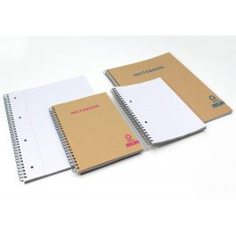 Silvine Kraft Covered Twinwire Notebooks