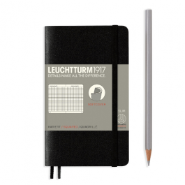 Leuchtturm A6 Black Softcover Notebook With Numbered Pages Squared