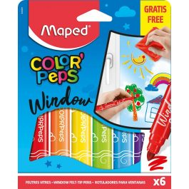 Maped Color Peps Window Felt Pens Pk 6