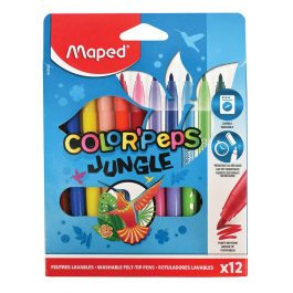 Maped Color Peps Jungle Felt Pens Eco Pk 12