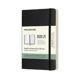 Moleskine 18 Month Weekly Notebook Pocket Soft Cover