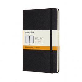 Moleskine Notebook Medium Ruled Black Hard Cover