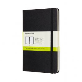 Moleskine Notebook Medium Plain Black Hard Cover