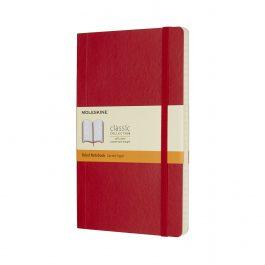 Moleskine Notebook Large Ruled Scarlet Red Soft Cover