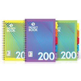 Silvine Daze Project Books Polypropylene Cover 5-Sections