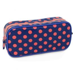 Polka Dot Pencil Case Blue