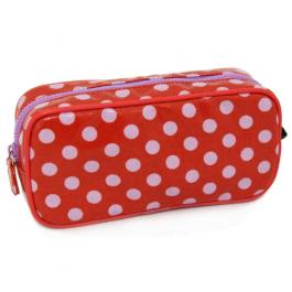 Polka Dot Pencil Case Red