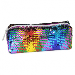 Moving Sequin Multicoloured Pencil Case