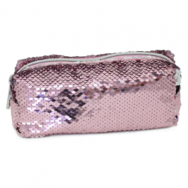 Moving Sequin Pink Pencil Case