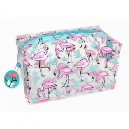 Flamingo Clear Pencil Case