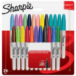 Sharpie Fine Permanent Markers Assorted Colours Pk 24