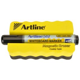 Artline Magnetic Board Eraser With Marker Pen Set