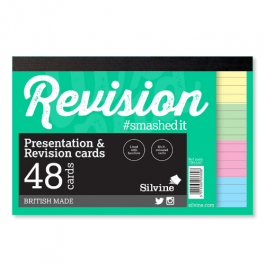 Silvine Student Pad Revision Cards Assorted Colours