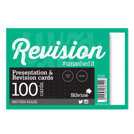 Silvine Revision Cards 6″ x 4″ Dot Grid Pk 100