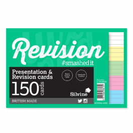 Silvine Revision Cards 6″ x 4″ White & Assorted Colours Pk 150