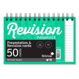 Silvine Student Twinwire Revision Card Pads