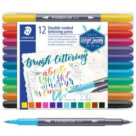 Staedtler Double-Ended Brush Pens Pk 12