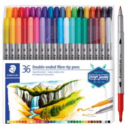 Staedtler Double-Ended Fibre-tipped Pens Pk 36