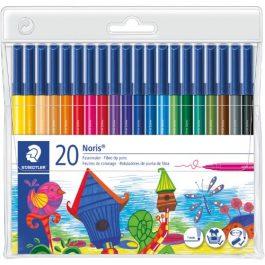 Staedtler Noris Fibre Tip Colouring Pens Wallet 20