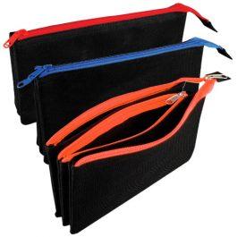 Tiger Triple Zip Flat Pocket Pencil Cases