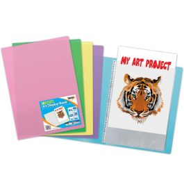 Tiger A3 Display Books Clear Pastel Covers