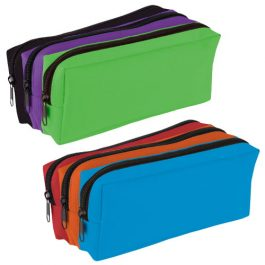 Tiger Tri-Colour Triple Zip Pencil Cases