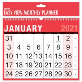 Tallon Easy View Monthly Calendar 2021