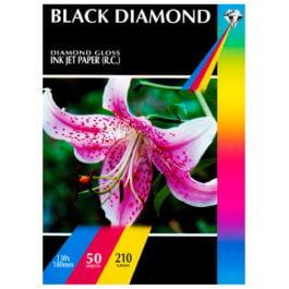Black Diamond 130 x 180 mm Diamond Gloss 210 gsm Pk 50