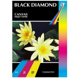 Black Diamond A3 Canvas Double Sided 220 gsm Pk 20