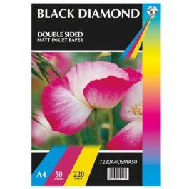 Black Diamond A4 Double Sided Gloss/Matt 235 gsm Pk 20