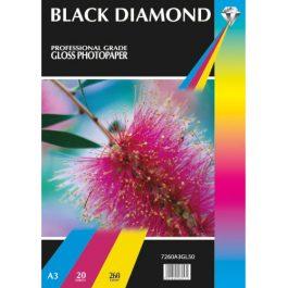 Black Diamond A3 Diamond Gloss 260 gsm Pk 20