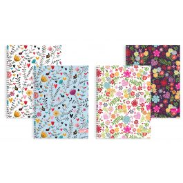 Silvine Marlene West Design Twinwire Notebooks Hearts and Flowers