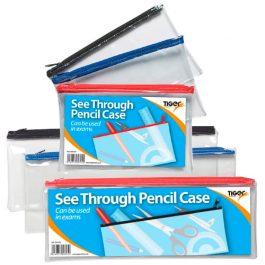 Tiger Clear Exam Pencil Cases