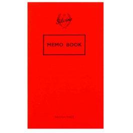 Silvine Red Cover Memo Book