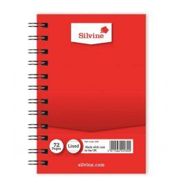 Silvine Spiral Bound Notebook Red 5 x 3